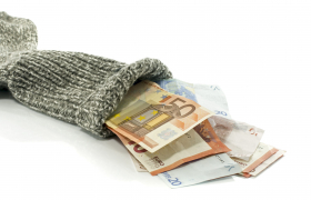 because of the low interst rate people are putting money in a sock to save value